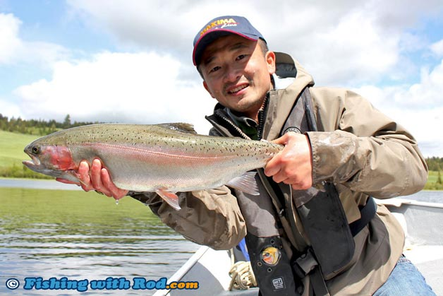 Trout in lakes fishing in bc fishing with rod for How s the fishing
