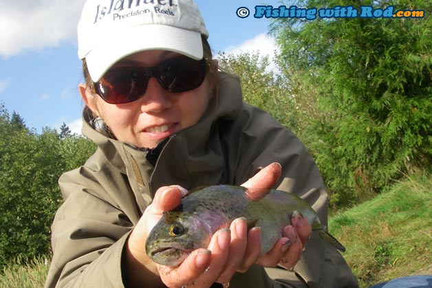 Bait fishing for stocked rainbow trout fishing with rod for Stocked trout fishing