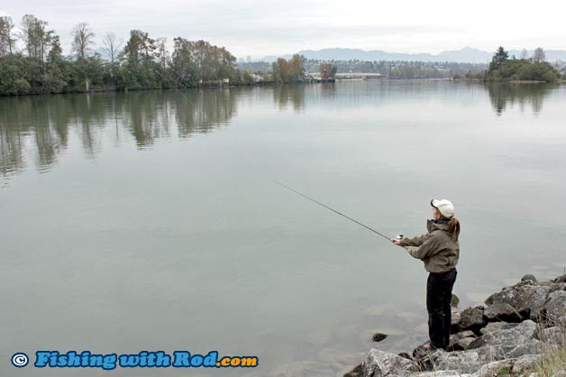 North arm tidal fraser river fishing with rod for North river fish bar