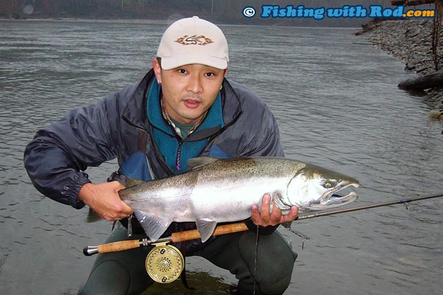 Those picky silvers fishing with rod for Salmon fishing setup