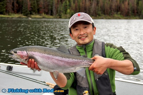 Trophy rainbow trout from Onion Lake, at last