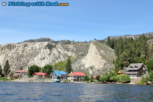 Summer cottages along Okanagan Lake