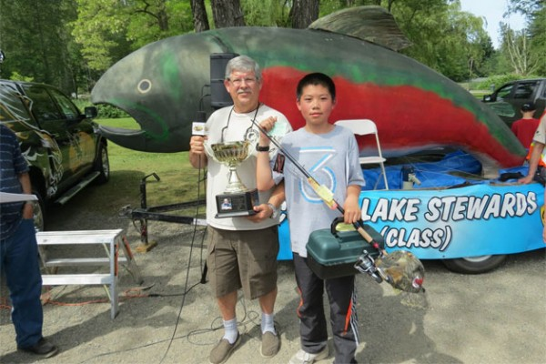 Ethan Zue took first place in junior class of 2013's Cultus Lake Pikeminnow Derby