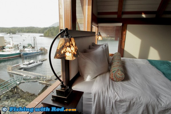 The Bedroom at Whiskey Landing Lodge in Ucluelet BC