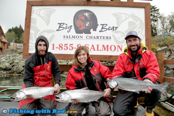 Happy Customers at Big Bear Salmon Charters