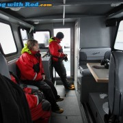 The Spacious Cabin Aboard Big Bear Salmon Charters' Custom Weldcraft