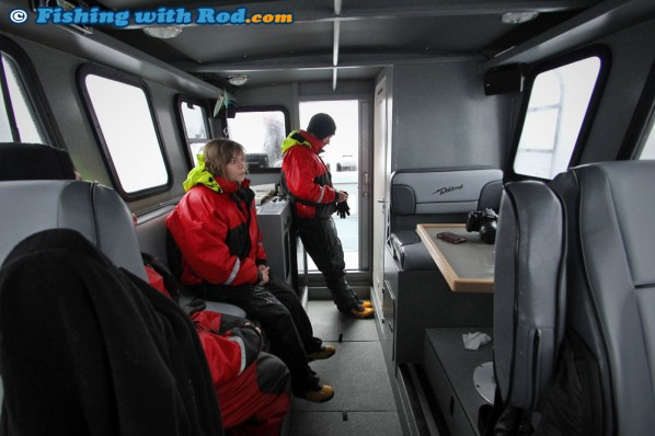 The Spacious Cabin Aboard Big Bear Salmon Charters' Custom Weldcraft