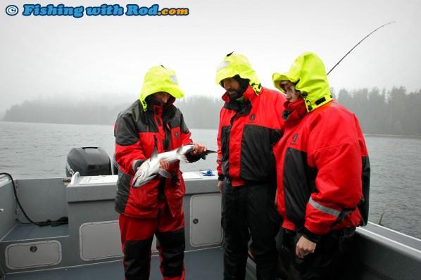 Admiring Dan's Small Salmon