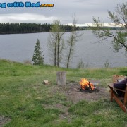 Camp Fire After Fishing