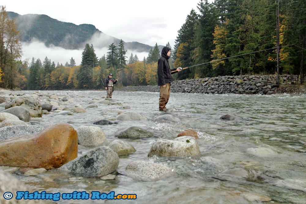 Salmon fishing at beautiful chehalis river fishing with for Chehalis river fishing