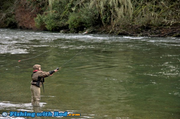 Steelhead Fishing at Wady's Pool