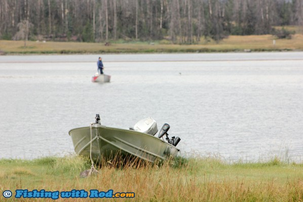 Early Morning Keen Fisherman at Tunkwa Lake