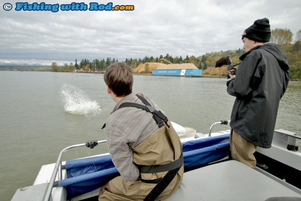White sturgeon fishing in the Fraser River
