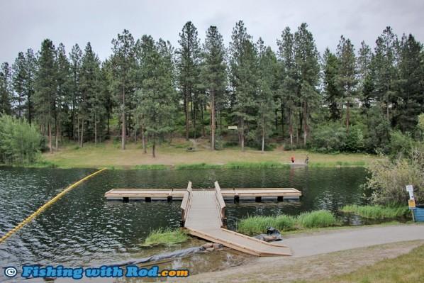 Shannon Lake's New Floating Dock