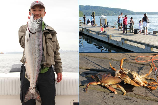 Lower mainland and sunshine coast saltwater fishing for Saltwater pier fishing