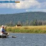 Catching Trout at Tunkwa Lake BC